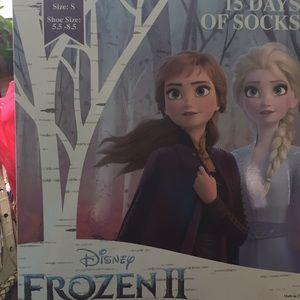 15 pairs of Socks Disney FROZEN 11 size small